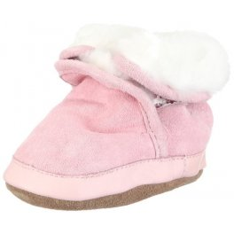 Зимние замшевые детские сапоги на меху - розовые