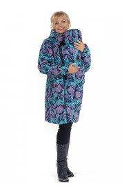 Куртка зимняя для беременных, слингокуртка Laura Bruno №2 сине-розовая