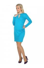 Платье Делис бирюза для беременных и кормящих