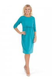 Платье ПП09 изумруд для беременных и кормящих