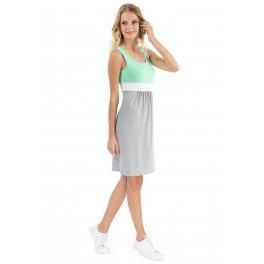 Платье Триколор меланж для беременных и кормящих