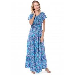 Платье Мелитта бирюзовое для беременных и кормящих
