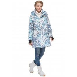 """Куртка 3в1 зимняя """"Мадейра"""" пэйсли на белом для беременных и слингоношения"""