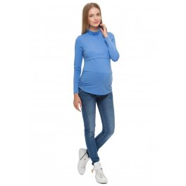 """Водолазка """"Гламур"""" голубая для беременных и кормящих"""
