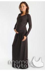 Платье макси для беременных и кормящих - Шоколад
