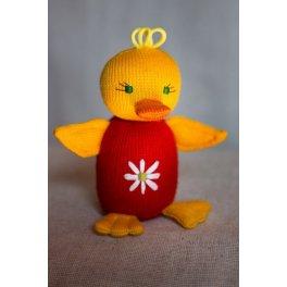 Утенок «Кря» - вязаная эко игрушка