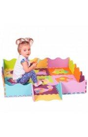 Детский коврик-пазл -Веселый зоопарк, с бортиком