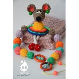 Слингобусы-погремушка - Мышка-Хельга maxi