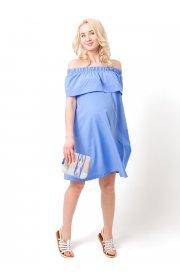 """Платье """"Контент"""" для беременных и кормящих, цвет васильковый"""
