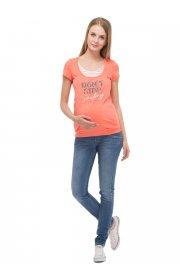 """Футболка """"Агна"""" для беременных и кормящих, цвет лососевый"""
