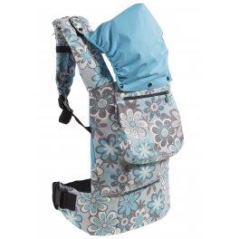 Эрго рюкзак Классик RZ 305 I Love Mum- Цветы голубые