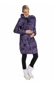 """Куртка демис. 3в1 """"Вуаля"""" узор на баклажане для беременных и слингоношения"""