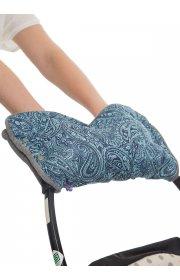 Муфта для рук на коляску узоры на синем