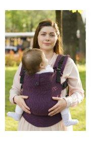Эрго-рюкзак из шарфовой ткани Violet